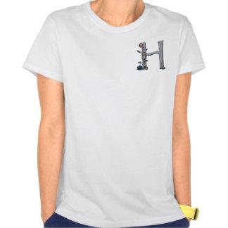 Metal Flowers Monogram H T Shirts