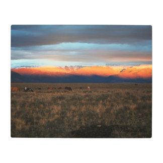Metal Frame Alpenglow South Steens 16 x 20 Metal Photo Print