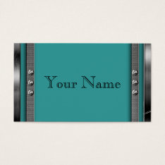 Metal Frame Border Business Cards at Zazzle