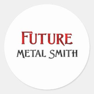 Metal futuro Smith Pegatina Redonda