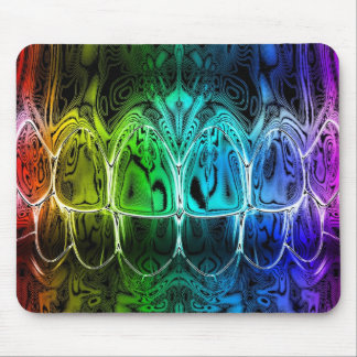 Metal Glow Colored Teeth Bite Dentist Mousepad