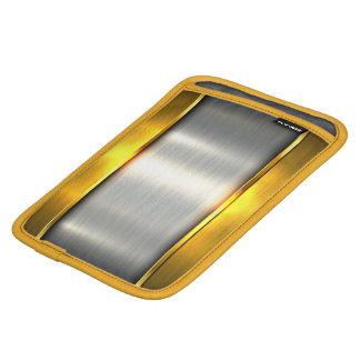 Metal gold aluminium material textures iPad mini sleeve