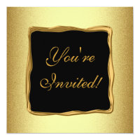 Metal Gold Frame Special Formal Event 2 Card