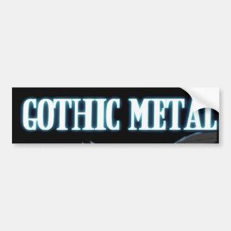 Metal gótico pegatina para auto