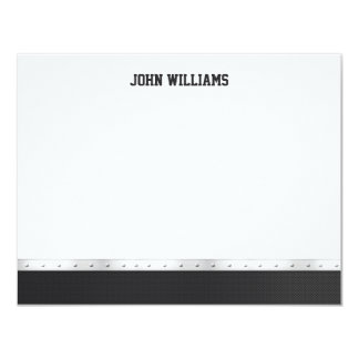Metal Graduation Thank You Note Card