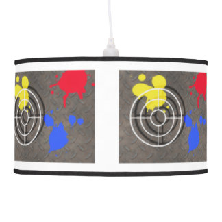 Metal Grate & Gunsight ANY COLOR BACKGROUND Hanging Lamps