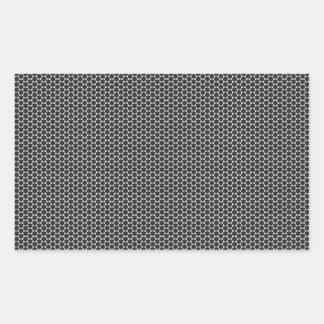 Metal Grate Mesh Rectangular Sticker