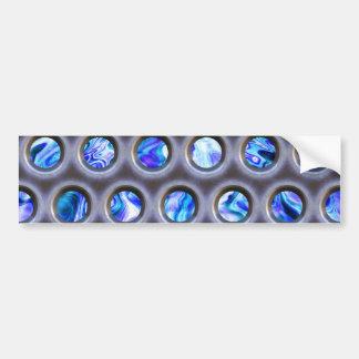 metal grate over a glowing blue plasma texture bumper sticker