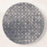 metal grating mesh pattern beverage coasters