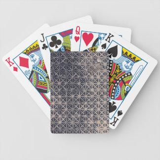 metal grating mesh pattern card deck