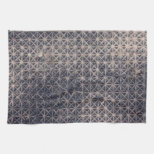 metal grating mesh pattern kitchen towels
