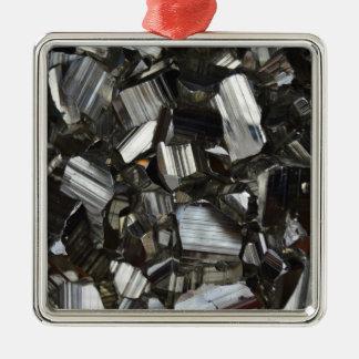 Metal Gray Shiny Quartz Crystals Metal Ornament