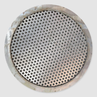 Metal Grease Filter Classic Round Sticker