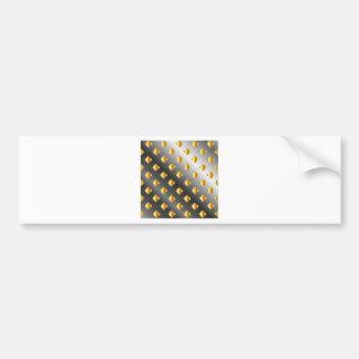metal grid background bumper sticker