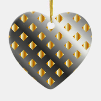 metal grid background ceramic ornament