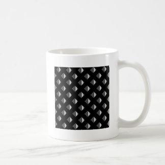 metal grid background coffee mug