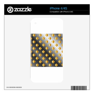 metal grid background decal for the iPhone 4