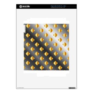 metal grid background iPad 2 decals