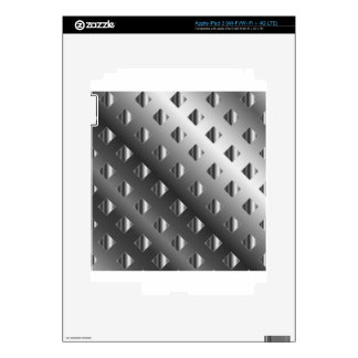 metal grid background iPad 3 skins