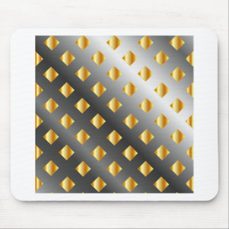 metal grid background mouse pad