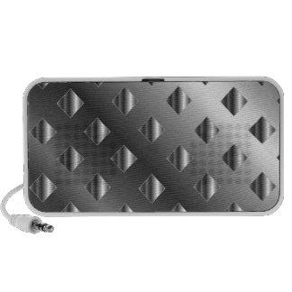 metal grid background speaker