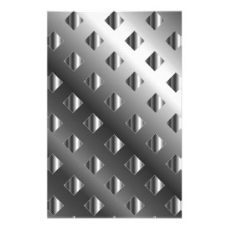 metal grid background stationery