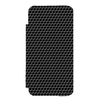 Metal grid pattern - background iPhone SE/5/5s wallet case