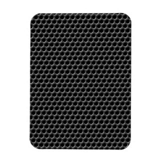 Metal grid pattern - background rectangular photo magnet