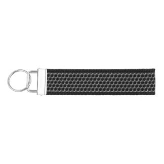 Metal grid pattern - background wrist keychain