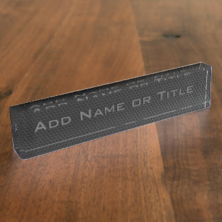 Metal Grill (Add your name) Desk Name Plate