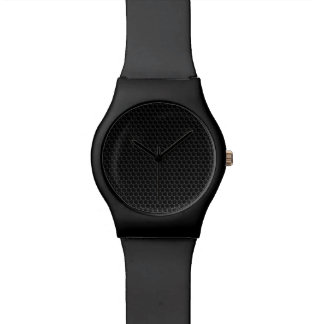 Metal Grill Black Wristwatches