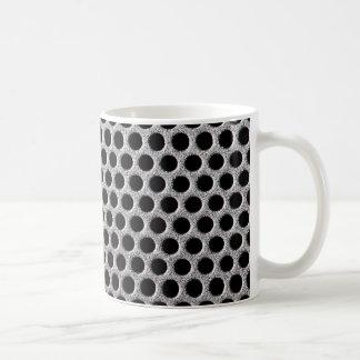 Metal grill dot pattern coffee mug
