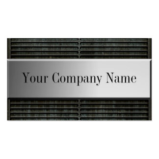 Metal Grill Grunge Business Cards