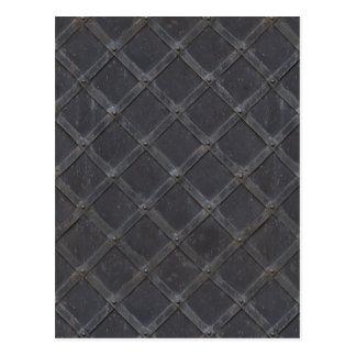 Metal Grille Lattice Framework Texture Postcard