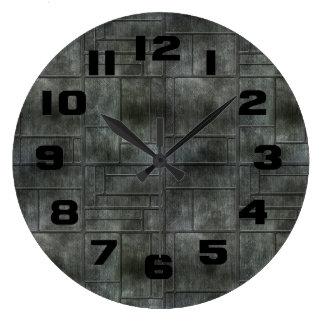 Metal gris industrial reloj redondo grande