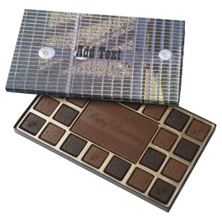 Metal ground 45 piece box of chocolates