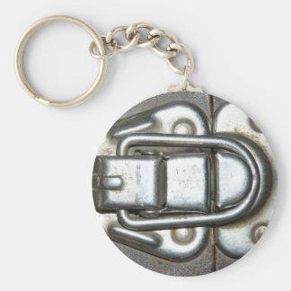 Metal Grunge Latch Keychain