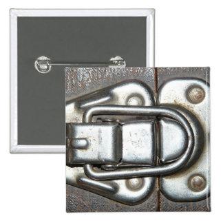 Metal Grunge Latch Pinback Button