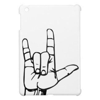 Metal Hand Sign iPad Mini Cases
