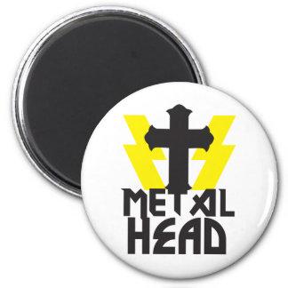 METAL HEAD 2 INCH ROUND MAGNET