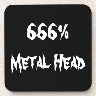 Metal Head Beverage Coaster