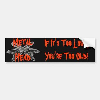 Metal Head Bumper Sticker Car Bumper Sticker