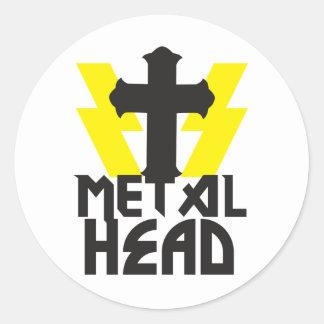 METAL HEAD CLASSIC ROUND STICKER