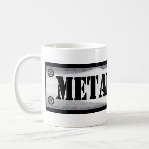Metal Head Classic White Coffee Mug