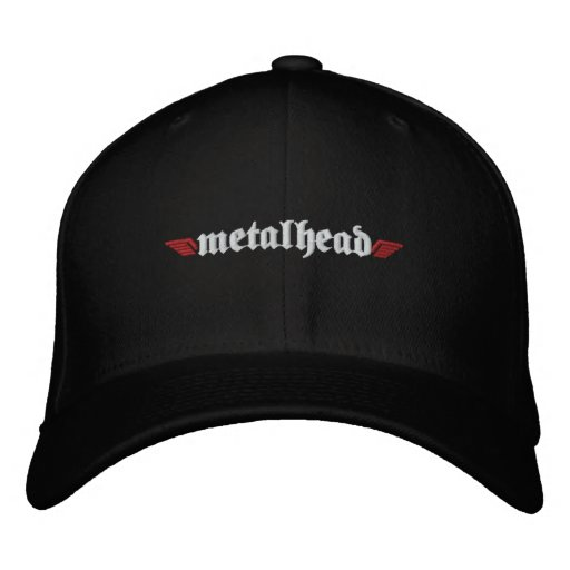Metal Head Hat w/Skull on Back