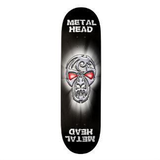 Metal Head Logo Skateboard