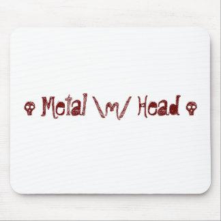 Metal head mouse pad