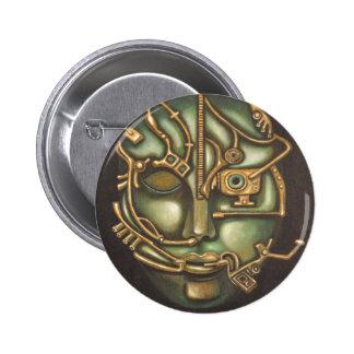 Metal Head Pinback Button