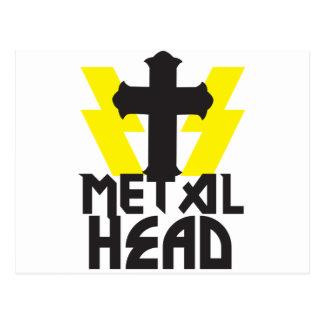 METAL HEAD POSTCARD