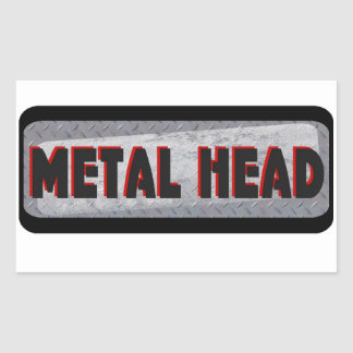 Metal Head Rectangular Sticker